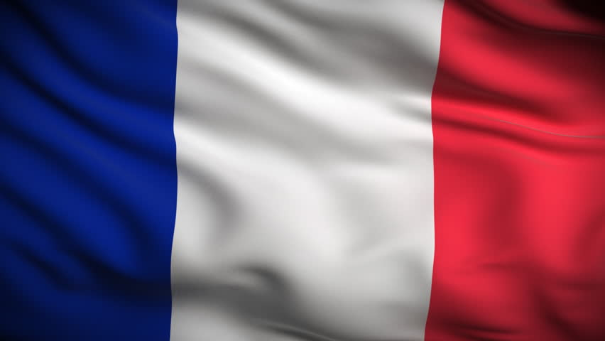French Flag Hd. Looped. Stock-video (100 % royaltyfri) 1821554 ...