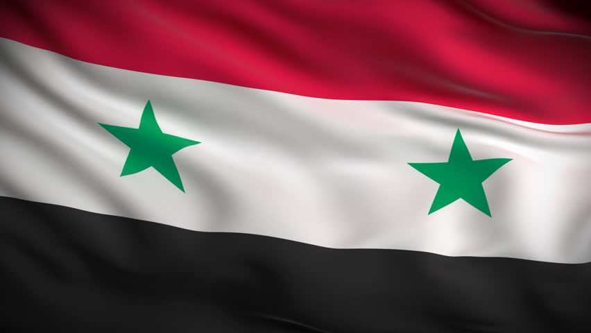 Syrian Flag HD Looped Stock Footage Video Shutterstock - Syria flag
