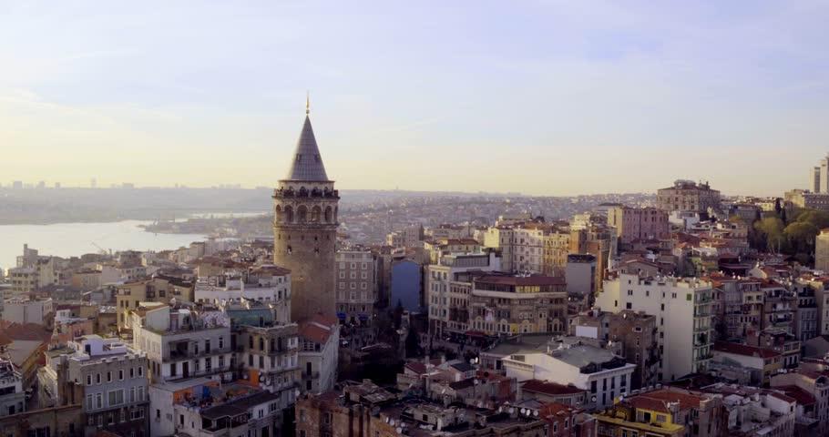 4K Turkey,  istanbul, Bosphorus City Galata Tower -87 #18218284