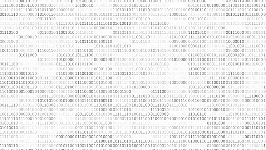 Screen with fast changing blinking and scrolling binary codes words listing white background texture | Shutterstock HD Video #18221851