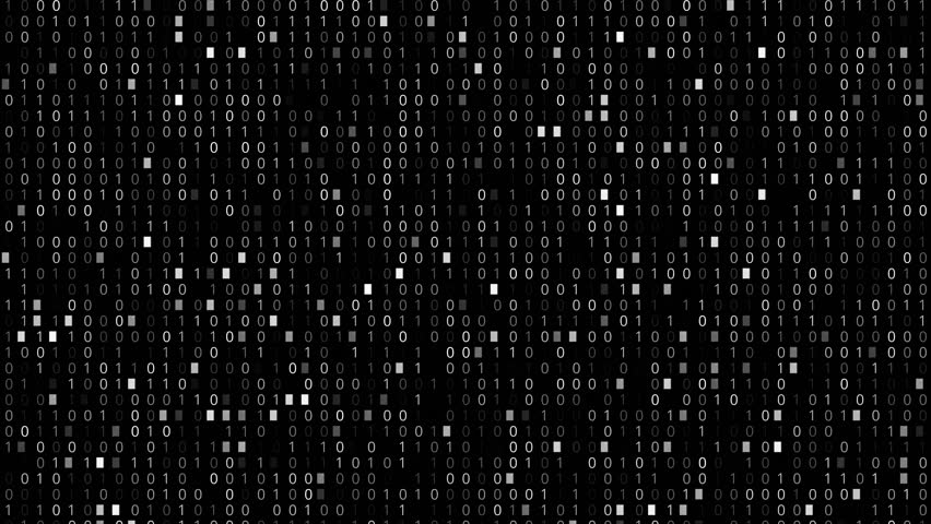 Screen with fast changing and scrolling binary codes listing black background texture | Shutterstock HD Video #18221854