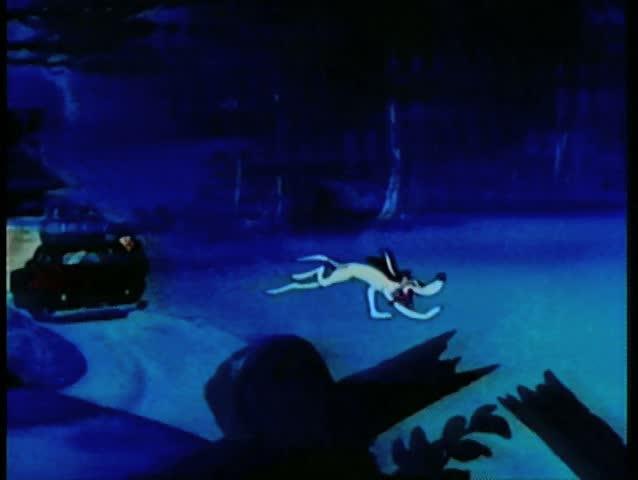 Cartoon of dog finding rabbit hole