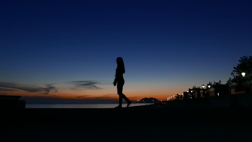 Black Girl Silhouette Walk Against Stock Footage Video (100% Royalty-free)  18242980 | Shutterstock