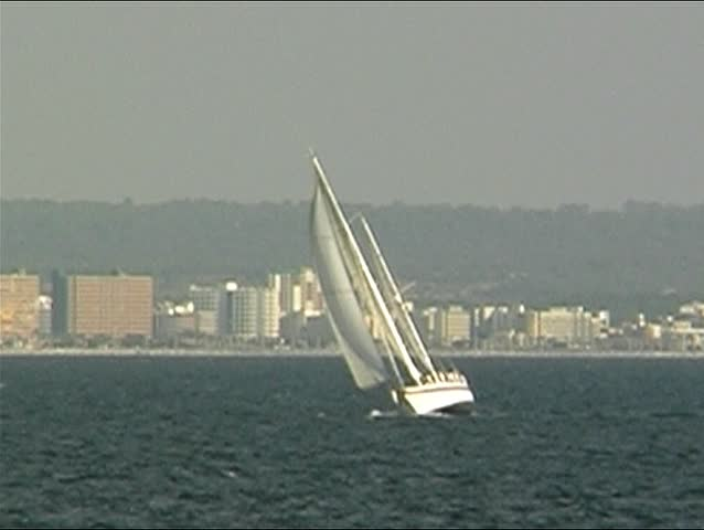 Sailingyacht at sea 12