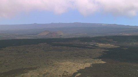 Aerial of the landscape of Mauna Loa, Hawaii