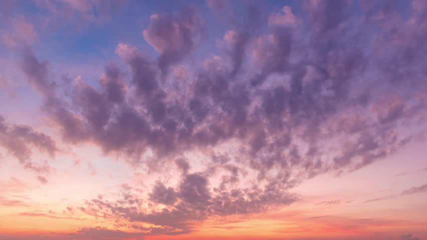 Time lapse of colourful nature clouds moving over clear sky in summer season with sunshine. #18258892