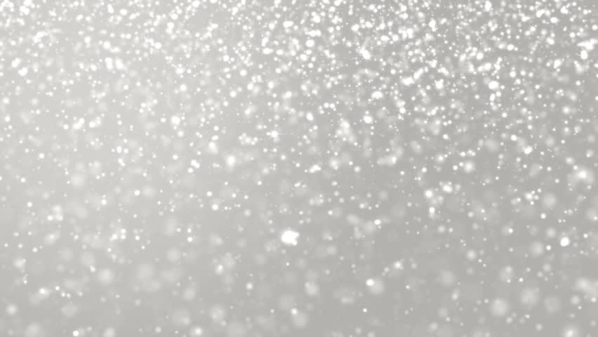 Elegant silver abstract with snowflakes. Christmas animated grey background. Background white glitter - winter theme. Seamless loop.