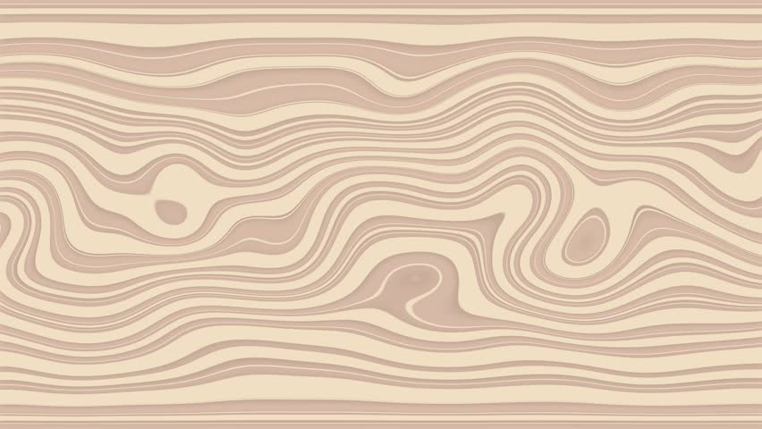 Beautiful hypnotic Curly waves and lines loopable pattern. Vanilla blossom version. | Shutterstock HD Video #18264049