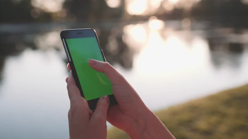 Hands holding and using business smartphone CHROMA KEY. SLOW MOTION 120 fps 4K.  | Shutterstock HD Video #18286702