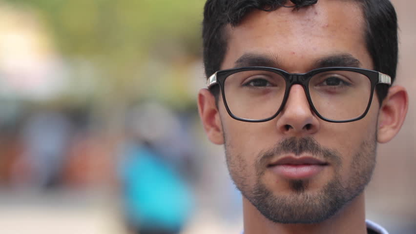 Young man in city face portrait | Shutterstock HD Video #18302104