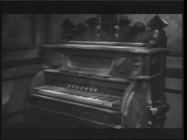 Antique Piano Playing in Haunted Stock Footage Video (100% Royalty ...