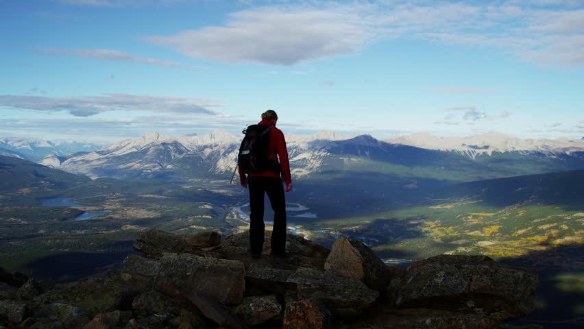 Young female hiking outdoor in Canadian Rockies #18304228