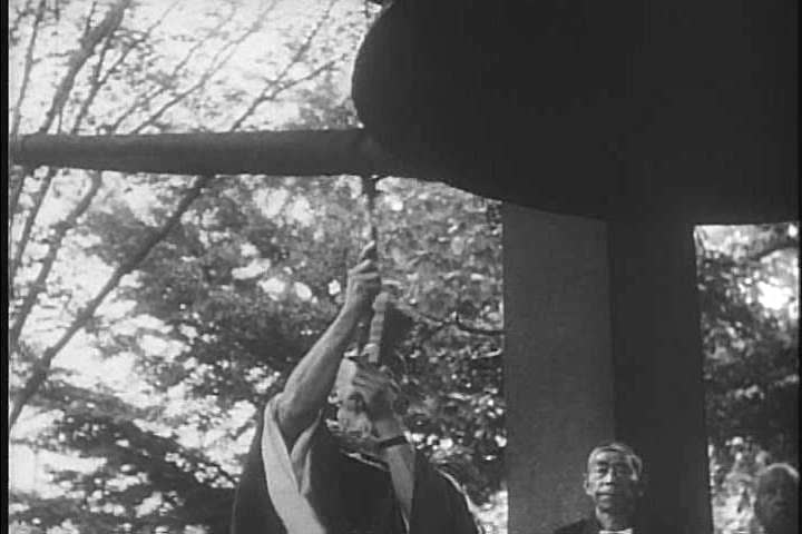 Japanese traditional warrior shows are performed as the crowd watches in the 1960s. (1960s) | Shutterstock HD Video #18312883