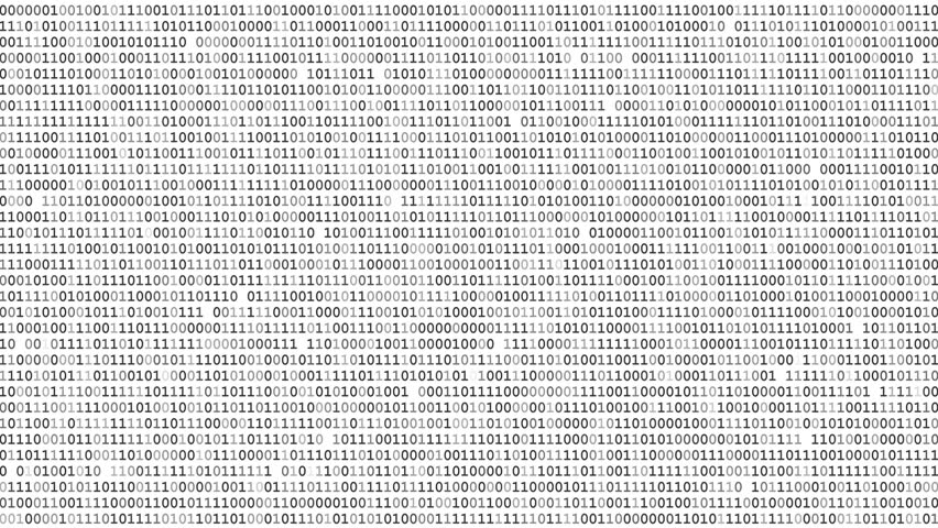 Twinkle binary code screen static listing table on black background | Shutterstock HD Video #18328183