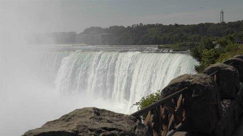 NIAGARA FALLS, CANADA - JULY 2016: Niagara Falls shot in glorious 4K UHD.