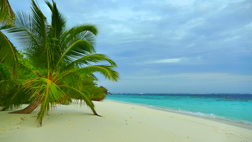 Beautiful tropical beach and sea in maldives island #18353203