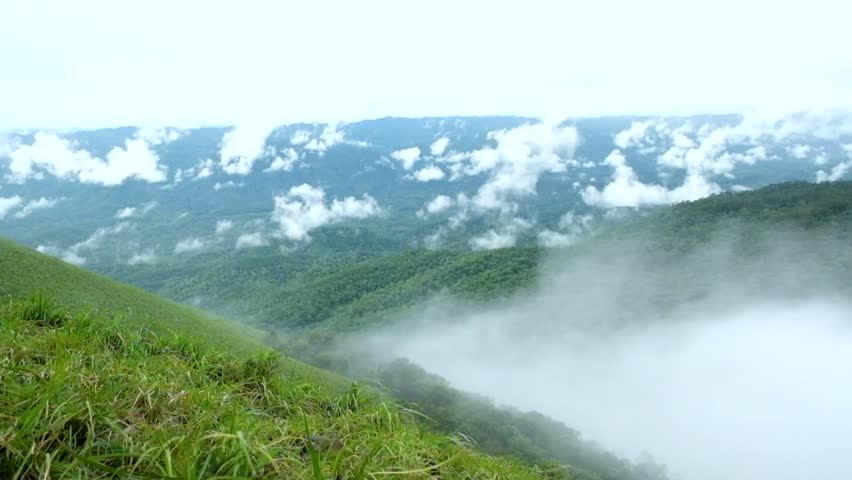 mist on mountain at doiluangtak Province Tak Thailand #18420517