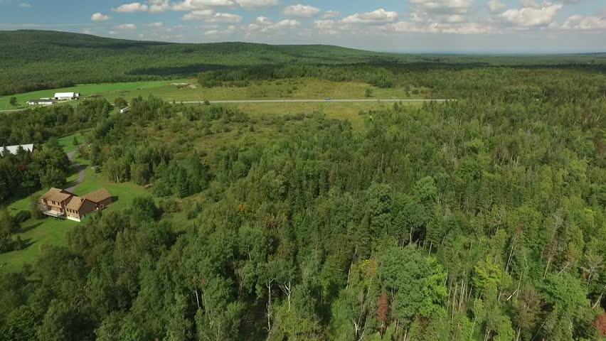 Aerial drone vast landscape and farmland | Shutterstock HD Video #18430444