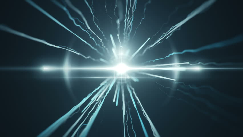 Abstract motion background with fast flying of light streaks. Animation of seamless loop. #18454651