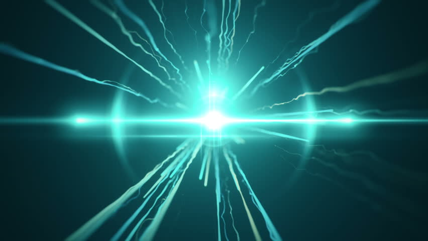Abstract motion background with fast flying of light streaks. Animation of seamless loop. #18454696