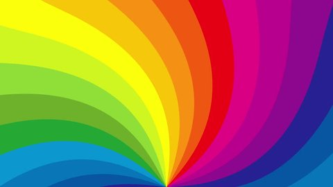 Rotating rainbow swirl. Seamless loop. 4K, UHD, Ultra HD resolution. More color backgrounds available - check my portfolio.