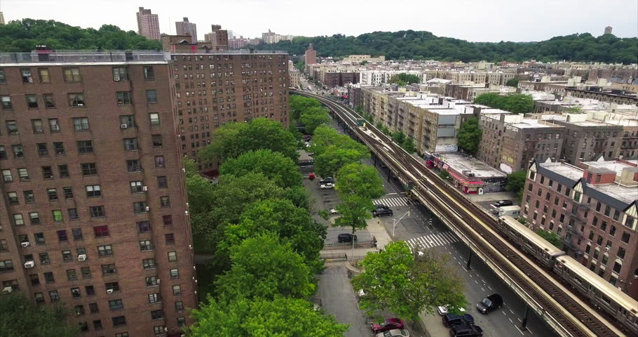 Bronx Subway Car Above Ground | Shutterstock HD Video #18497221