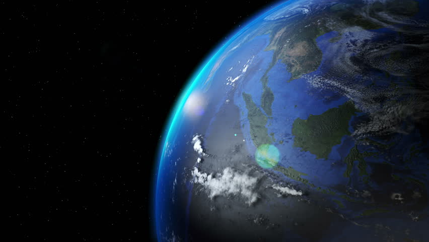 Earth Rotating View from Space Over Southeast Asia | Shutterstock HD Video #18501284
