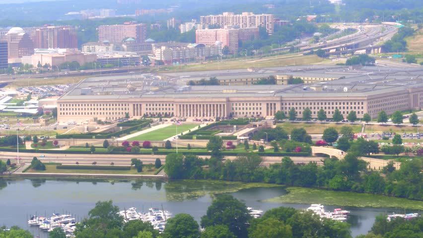 Aerial video Pentagon Washington DC USA