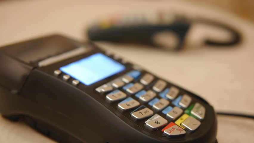 HD - Credit Card Terminal | Shutterstock HD Video #1854412