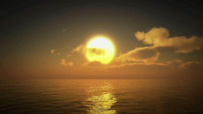 sunset over ocean #18548354