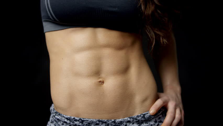 The Abs of Muscular Woman : Video de stock (totalmente libre de ...