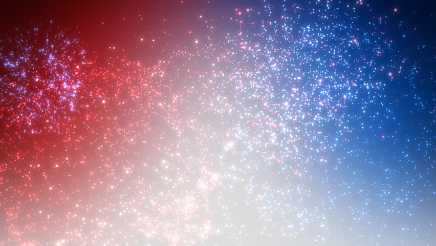 Loopable Red, White and Blue firework. Perfect for your 4th of July or New Year celebration.