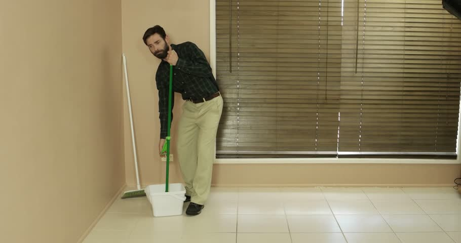 suburban average man conservative clean cut looking cleaning real estate  #18568955