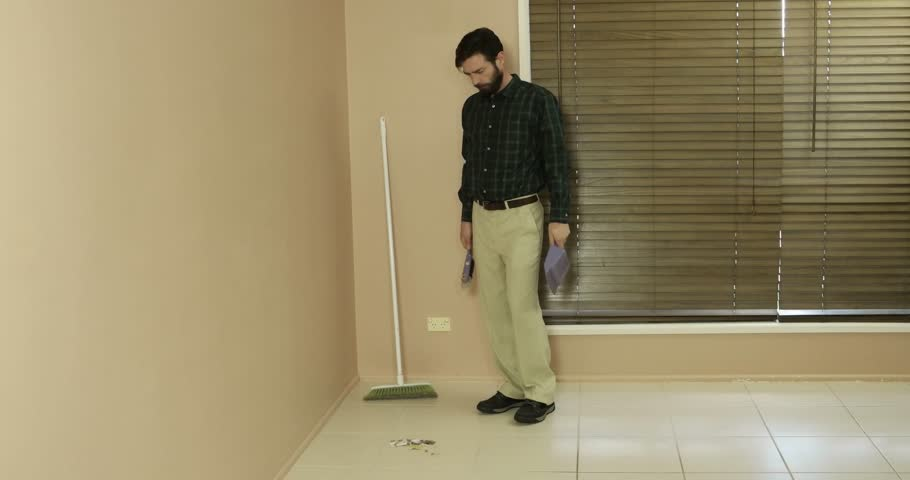 suburban average man conservative clean cut looking cleaning real estate #18569375