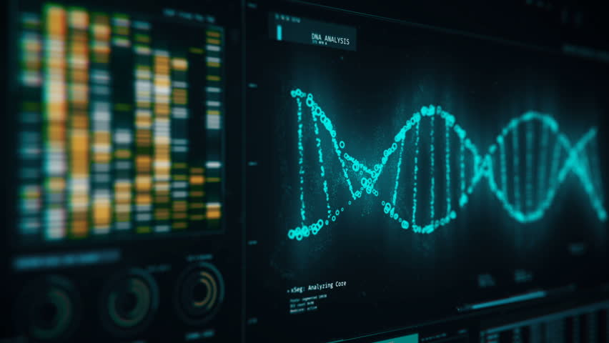 Dna Chain Rotating On Screen Stock Footage Video 100 Royalty Free 18576179 Shutterstock