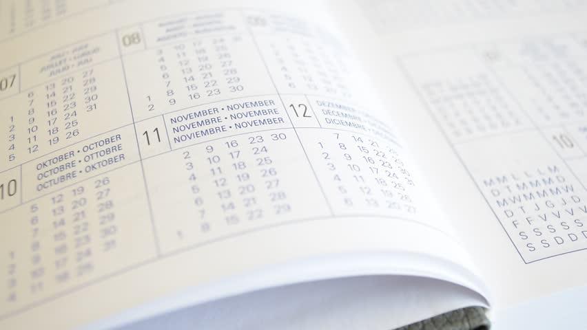 Diary sheets, datebook | Shutterstock HD Video #18592904