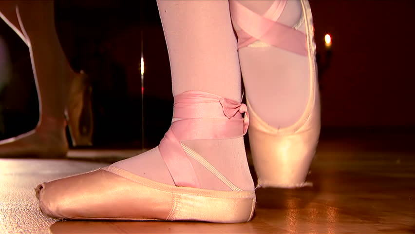 Ballerina makes graceful steps
