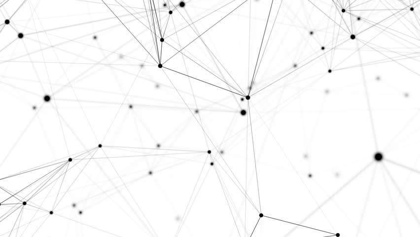 Abstract network animation. 4K Seamless loop