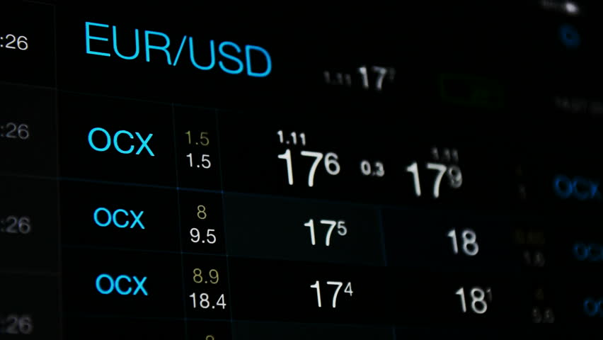 Currency Exchange Euro Vs Dollar Stock