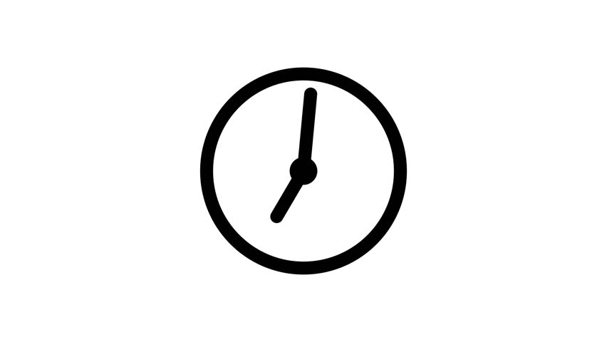 Stopwatch animated icon. Clock with moving arrows. Time run. Cartoon flat animation of UI element available in 4K FullHD and HD video 2D render footage on white