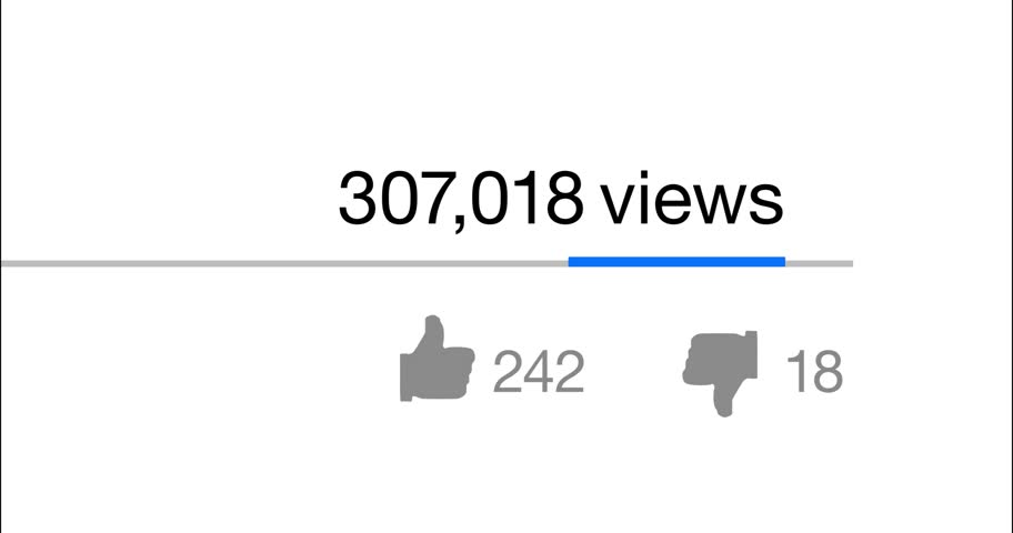 Video counter increasing from 0 to 1.000.000 (1 billion) views, likes and unlikes on a social network. 4K | Shutterstock HD Video #18735101