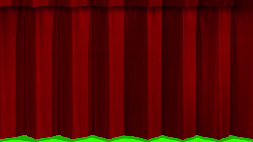 Open red curtain movement background, with chroma key green screen | Shutterstock HD Video #18751298