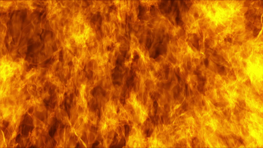 Flames burning on black background  #18786920
