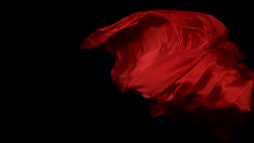 Flowing red velvet cloth