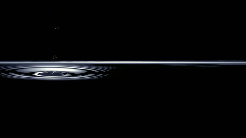 Slo-motion drops hitting water #1879774