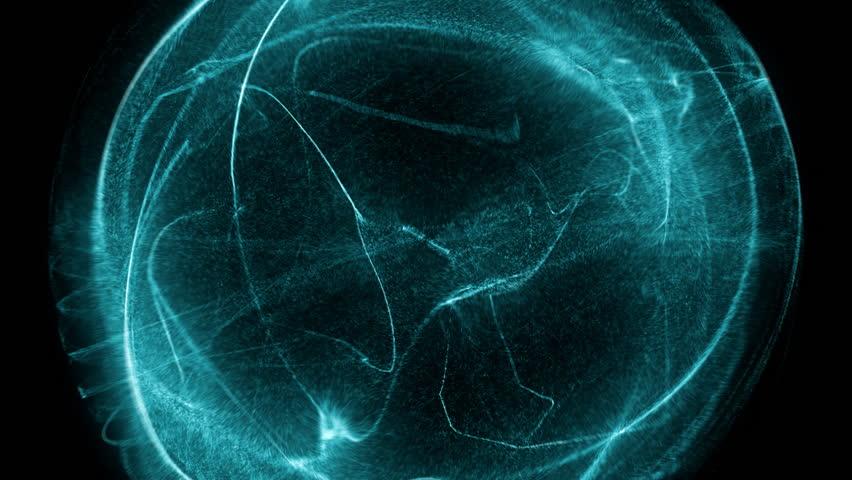 Fancy shield of energy in a dark background   Shutterstock HD Video #18833270