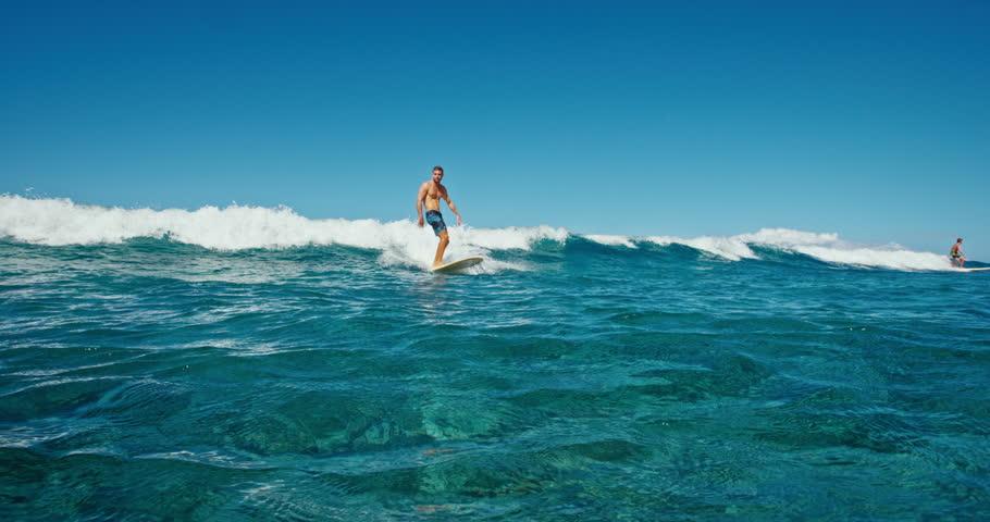 Young man having fun surfing   Shutterstock HD Video #18858950