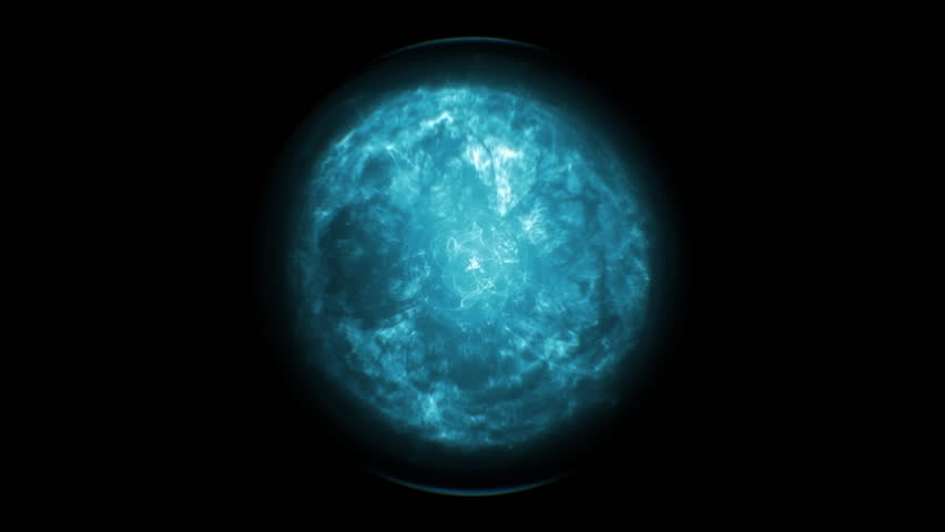 Blue and fancy sphere in a dark background #18864014