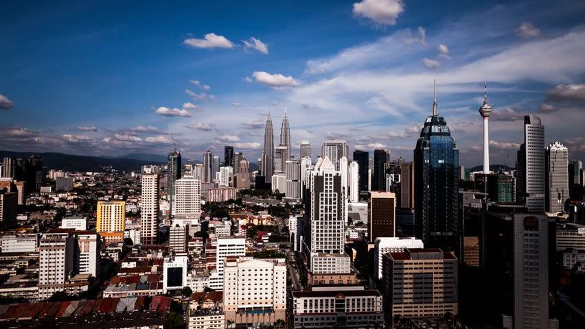 A view of Kuala Lumpur city center skyline | Shutterstock HD Video #18886886