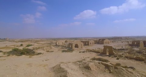 Remains of ancient buildings.